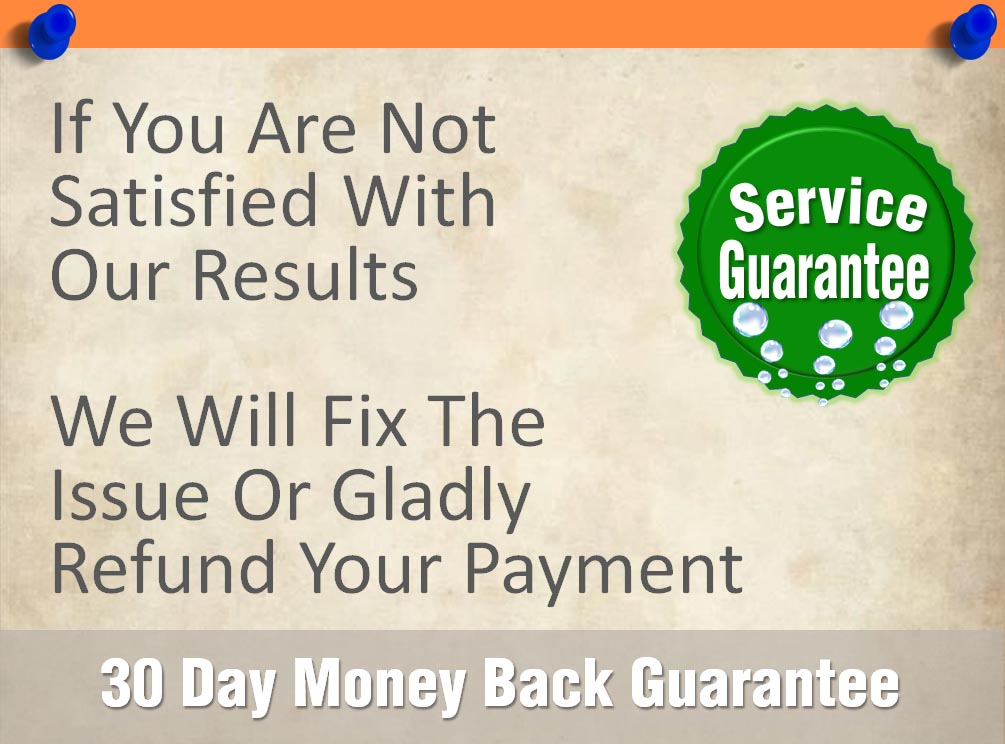 Service Guarantee. Price Guarantee. Money Back Guarantee.